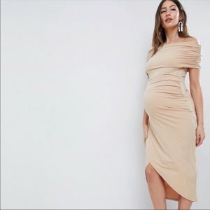 ASOS Maternity Stretchy Nude Dress